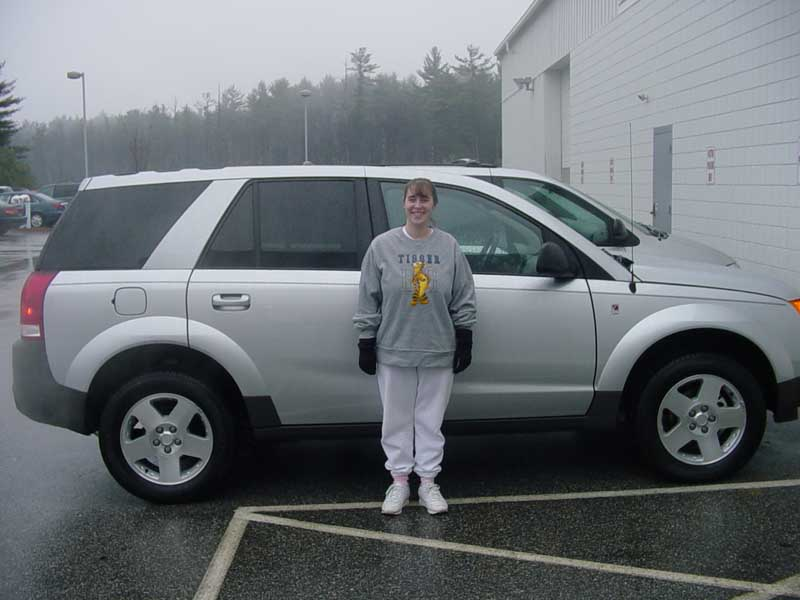 Saturn family with her new 2004 Saturn VUE!